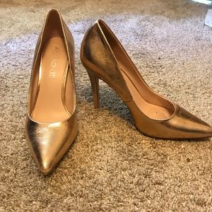 Metallic Gold Aldo Pumps